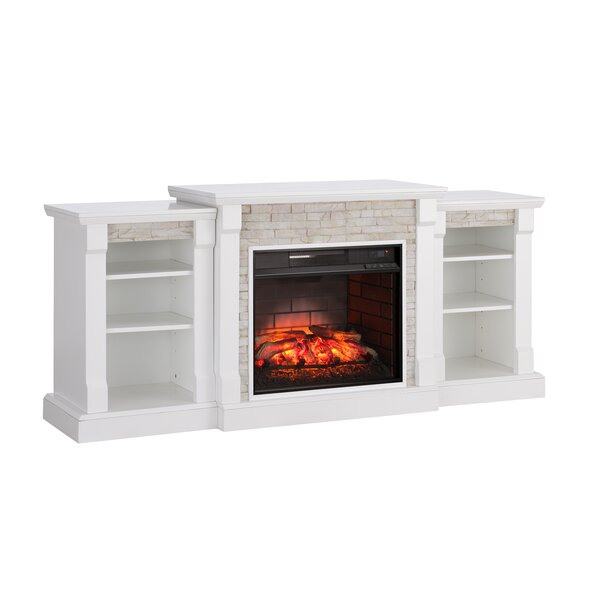 Shanks Simulated Stone Infrared Electric Fireplace By Alcott Hill