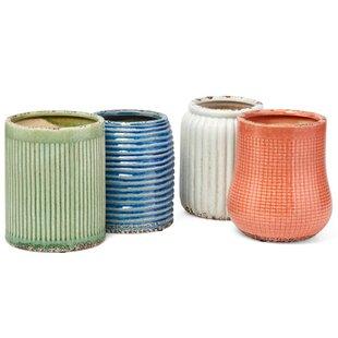 Ceramic Holders with Elegant Pattern Assortment 4 Piece Utensil Crock Set by August Grove