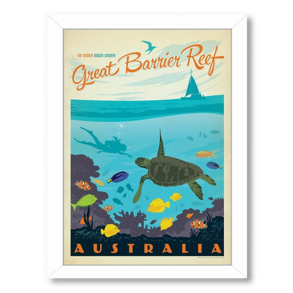 Great Barrier Reef Framed Vintage Advertisement by East Urban Home