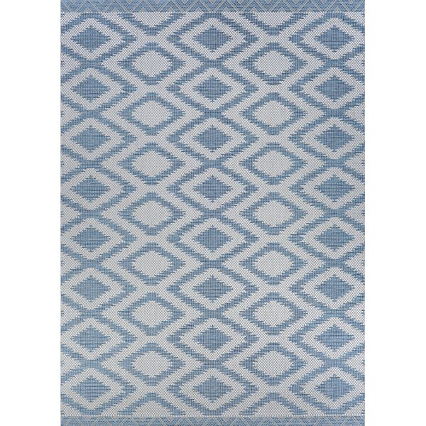 Temple Cloud Blue Indoor/Outdoor Area Rug by Union Rustic