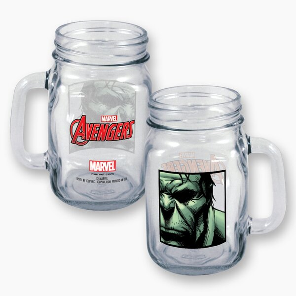 Marvel Hulk Close Up 16 oz. Mason Jar by ICUP Inc