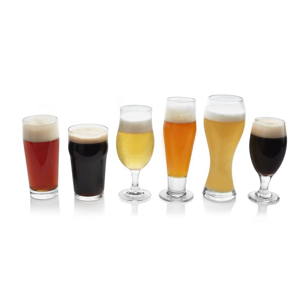 Craft Brews 6 Piece Assorted Glassware Set by Libb