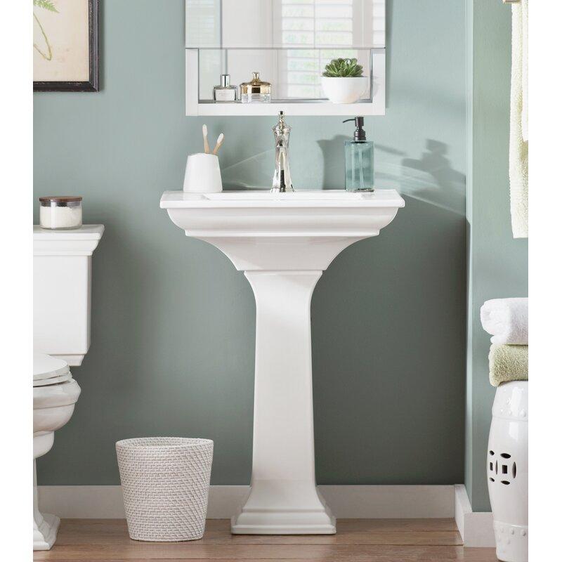 Ceramic Pedestal Bathroom Sink