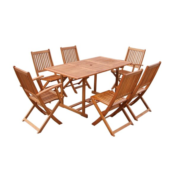 Lach 7 Piece Dining Set by Bayou Breeze