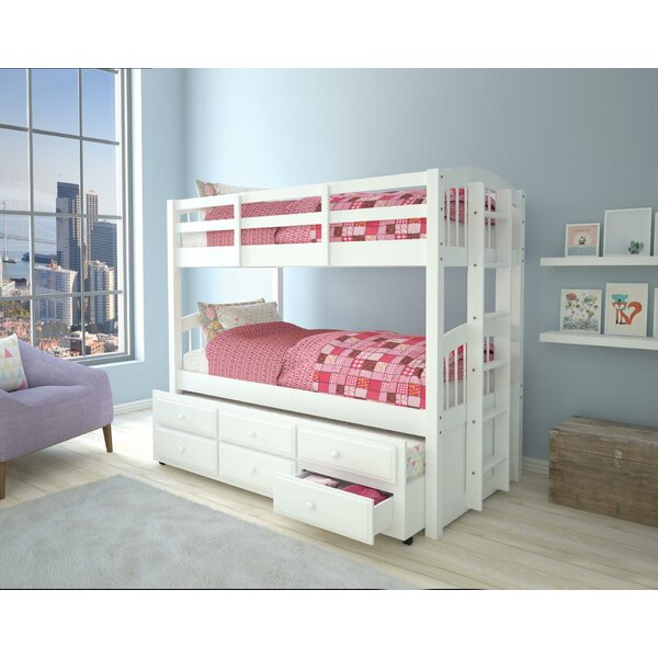 Steuben Twin over Twin Bunk Bed with 3 Drawers by Harriet Bee