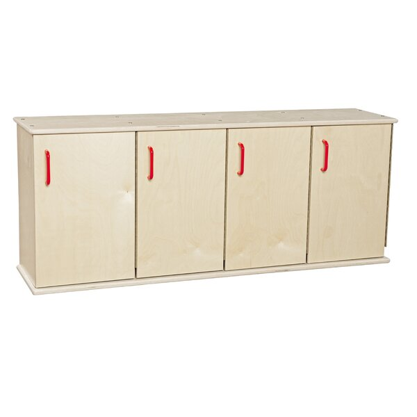 Contender 1 Tier 4 Wide Kids Locker by Wood Designs