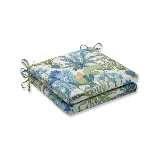 Indoor/Outdoor Dining Chair Cushion (Set of 2) by Highland Dunes