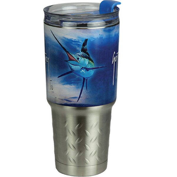 Westbrooks Marlin 32 oz. Stainless Steel Travel Tumbler by Breakwater Bay