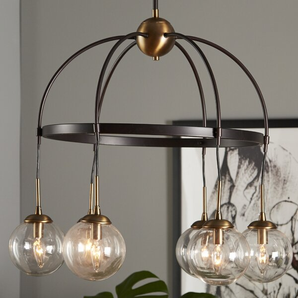 Yorba 6-Light Shaded Chandelier by Corrigan Studio