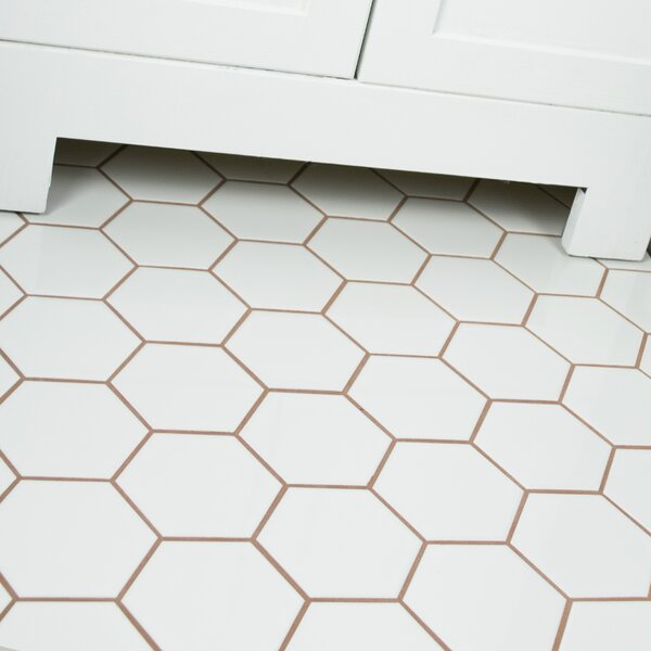 Retro Super Hex 3.73 x 3.73 Porcelain Mosaic Tile