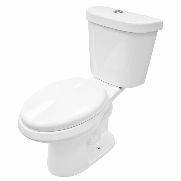 Dual Flush Elongated Two-Piece Toilet by LessCare