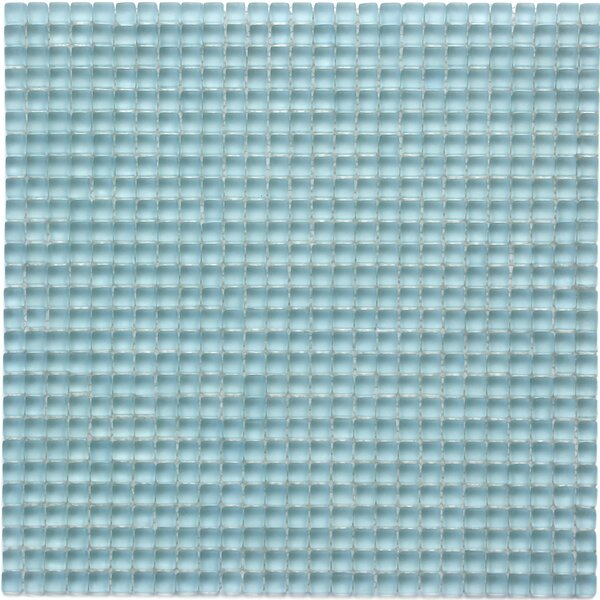 Atlantis 0.25 x 0.25 Glass Mosaic Tile in Marina Light Blue by Solistone