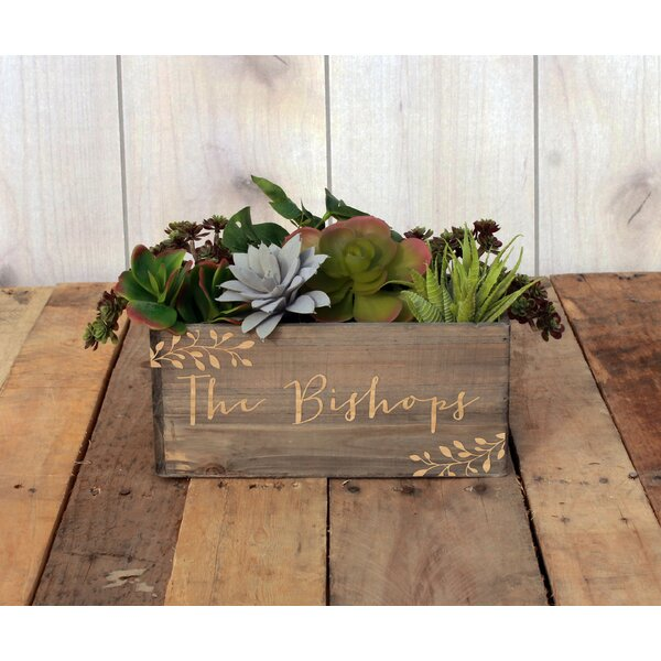 Madama Personalized Wood Planter Box by Winston Porter