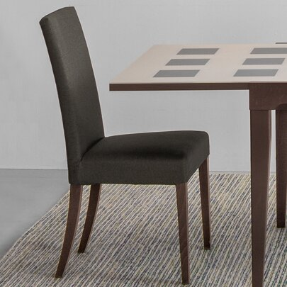 Stefan Upholstered Wooden Side Chair by Ebern Designs