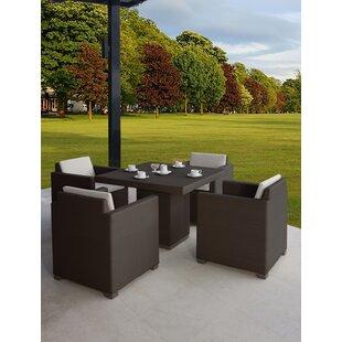 Westcott 5 Piece Dining Set with Cushions ByBrayden Studio