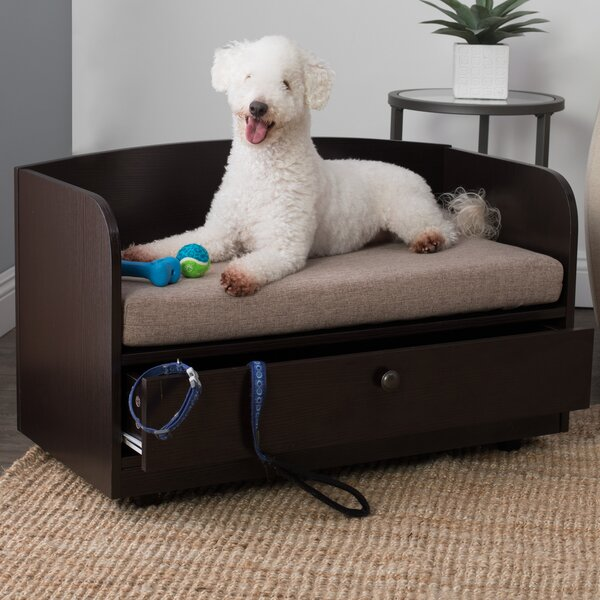 Connell Dog Sofa with Storage Drawer by Tucker Murphy Pet
