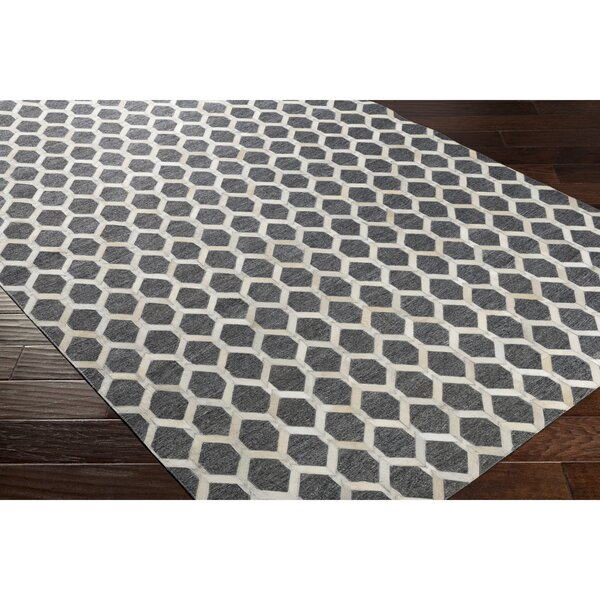 Rexburg Hand-Crafted Neutral/Gray Indoor Area Rug by Trent Austin Design