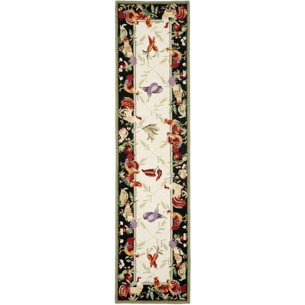 Kinchen Leaf and Chicken Novelty Area Rug by August Grove