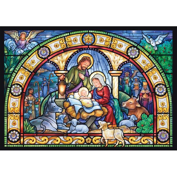 Stained Glass Holy Night Advent Calendar by The Holiday Aisle