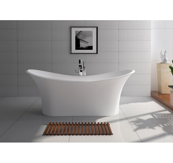69 x 29.5 Freestanding Soaking Bathtub by Legion Furniture