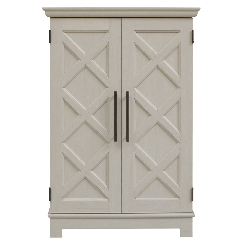 Kristen Bar Cabinet with Bar Cabinet - Come discover 50 Photos of Inspiring White Rooms With Rustic Vintage Charm!