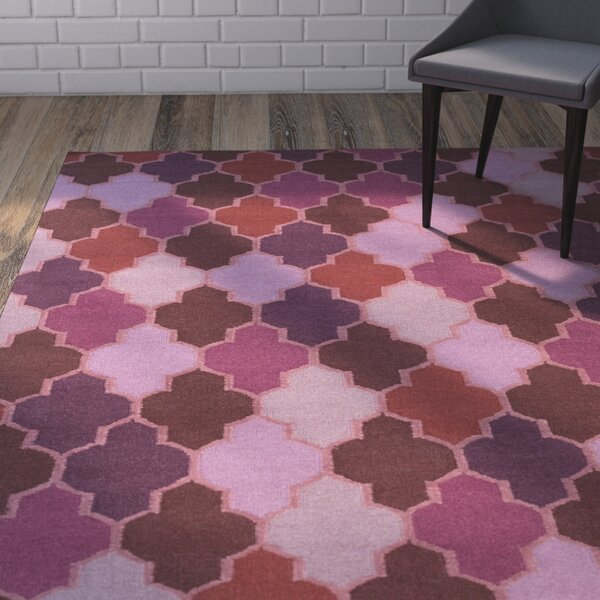 Crispin Hand Woven Eggplant Area Rug by Wrought Studio
