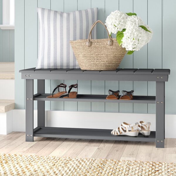 Stoneford Wood Storage Bench by Beachcrest Home