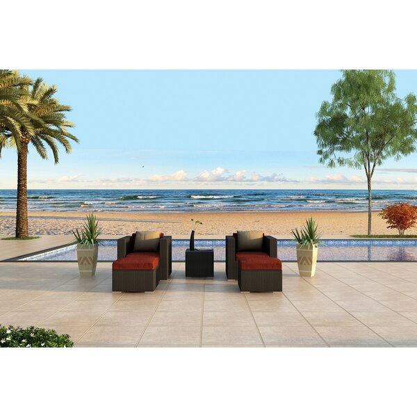 Azariah 5 Piece Sunbrella Seating Group Set with Cushions by Orren Ellis