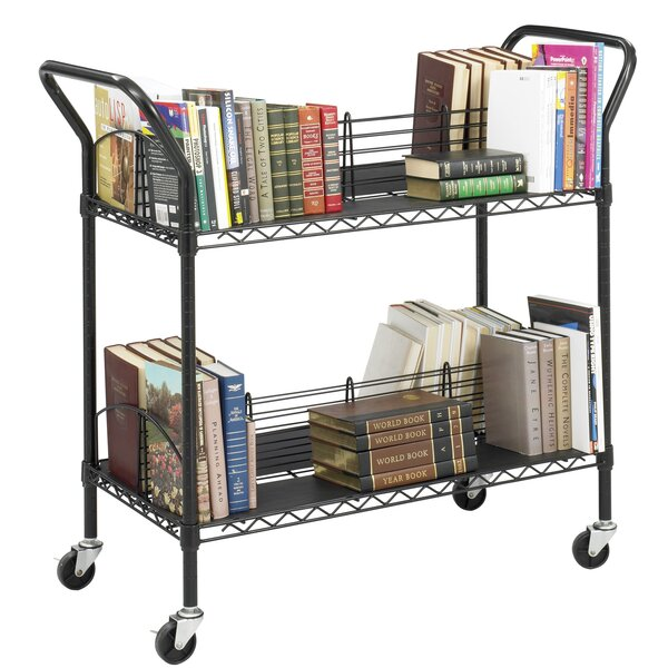 Double Sided Book Cart By Safco Products Company.