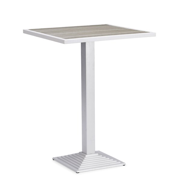 Feickert Aluminum Bar Table by Highland Dunes