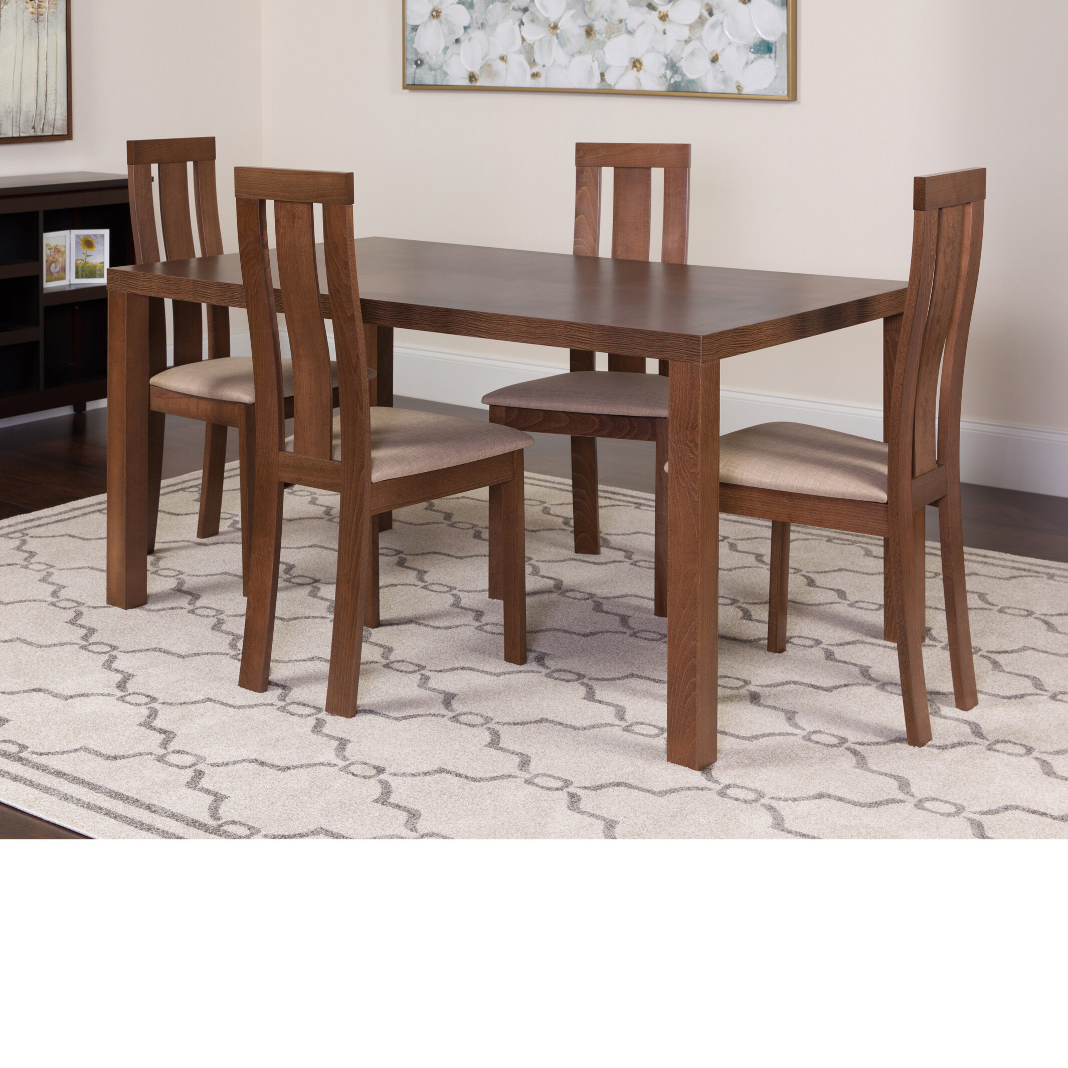 Winston Porter Hudson Square 5 Piece Dining Set | Wayfair