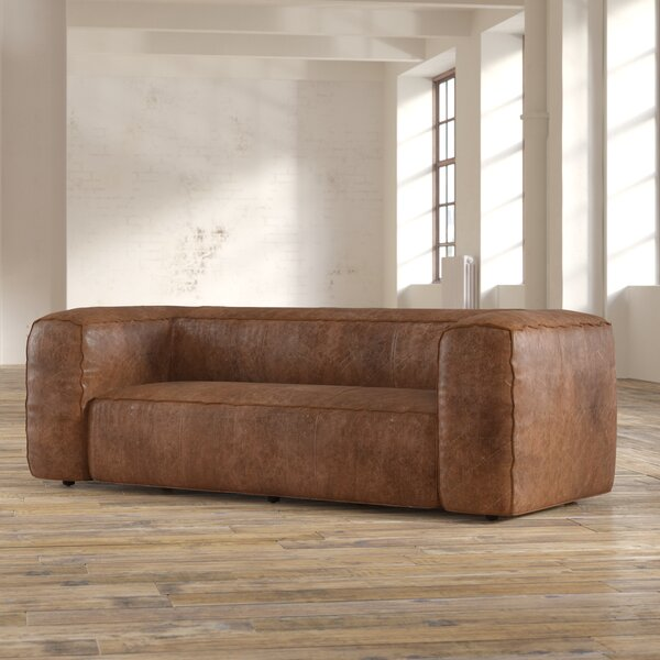 Annessia Leather Sofa by 17 Stories
