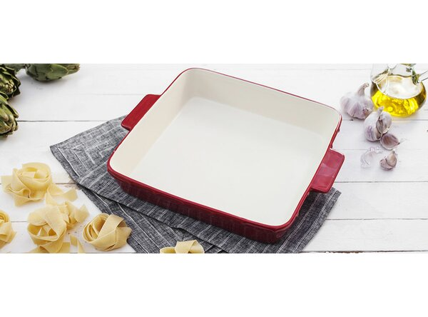 Ceramic Square Roasting Dish with Handles by Fornetto
