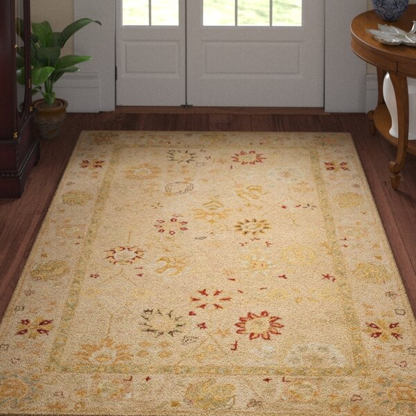 Ashville Hand-Tufted Beige Area Rug by Three Posts