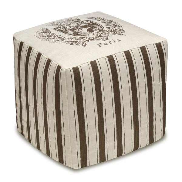 Paris Crest Cube Ottoman by 123 Creations