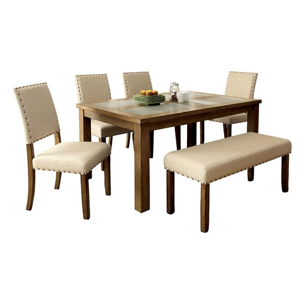 Crafton 6 Piece Dining Set by Alcott Hill