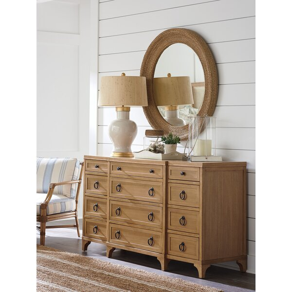 Newport 12 Drawer Dresser with Mirror by Barclay Butera