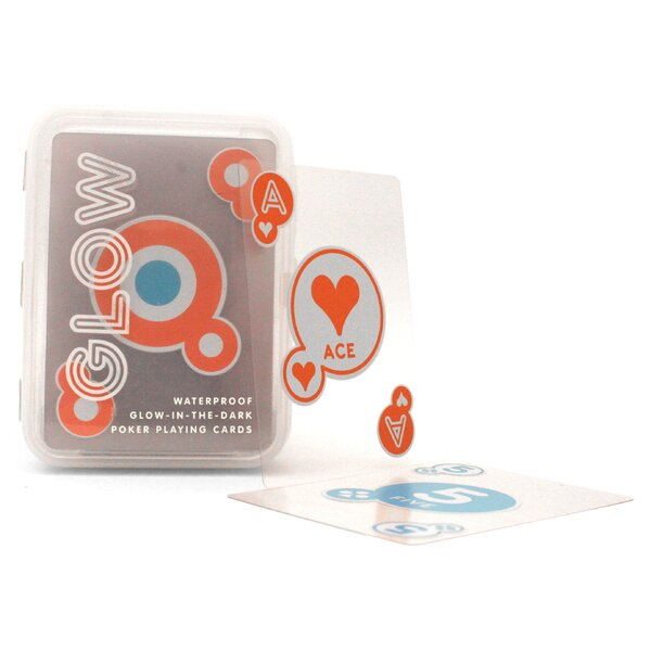 Fun & Game Glow-in-the-Dark Playing Card by Kikkerland