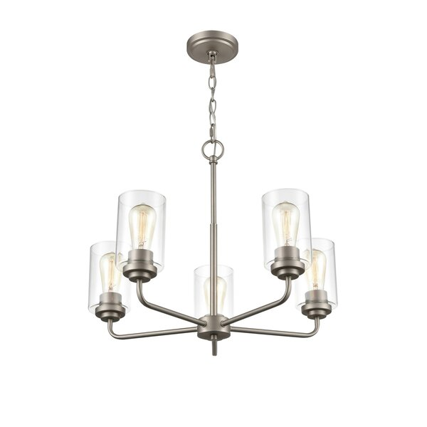 Bourassa 5 - Light Unique Tiered Chandelier by Longshore Tides Longshore Tides