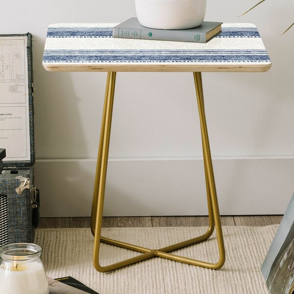 Holli Zollinger French Linen Chambray Tassel Square End Table By East Urban Home