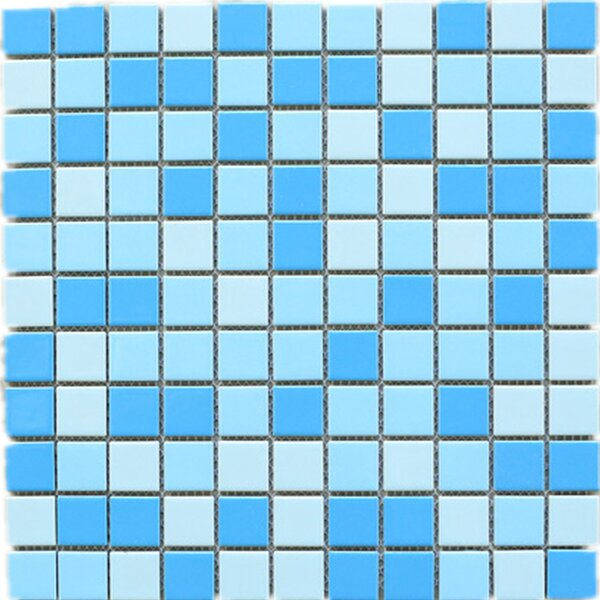 1 x 1 Porcelain Tile in Blue by Multile