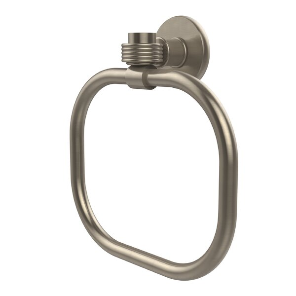 Continental Wall Mounted Towel Ring with Groovy Detail by Allied Brass