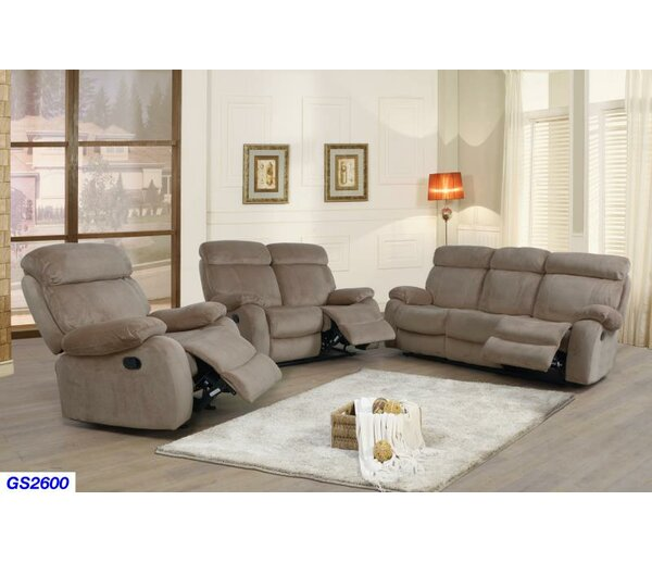 Jonael 3 Piece Reclining Living Room Set by Red Barrel Studio