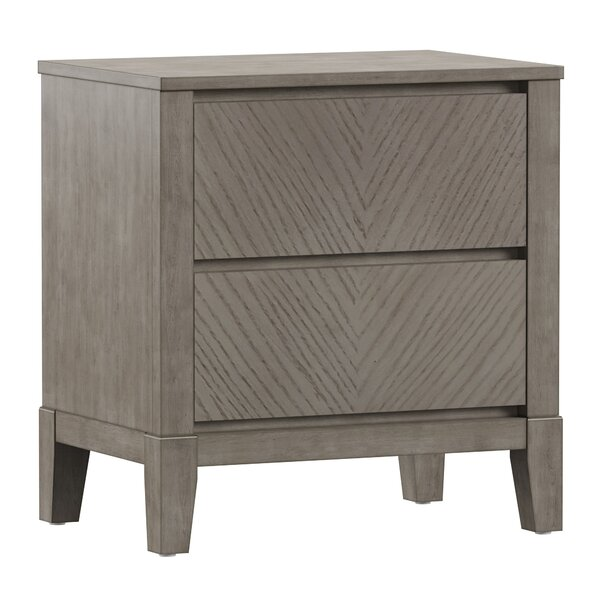Nicolai 2 Drawer Nightstand by Wrought Studio