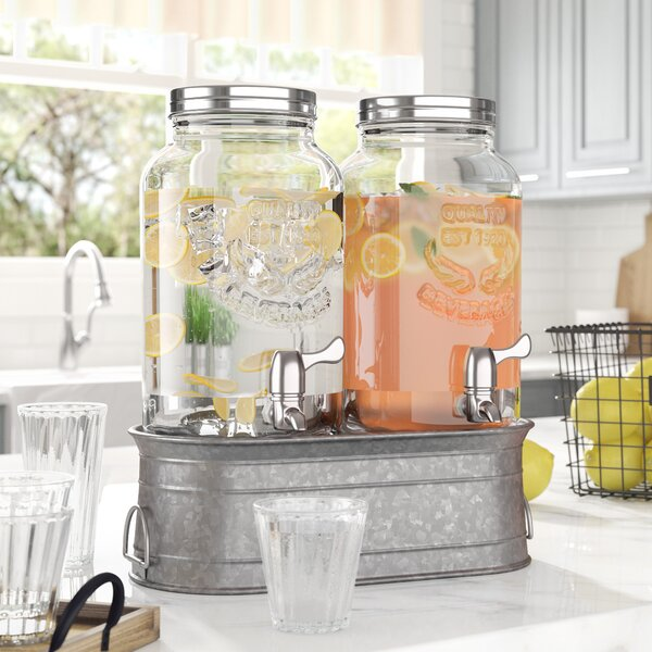 Hahira Farmhouse 3 Piece Beverage Dispenser Set by Laurel Foundry Modern Farmhouse