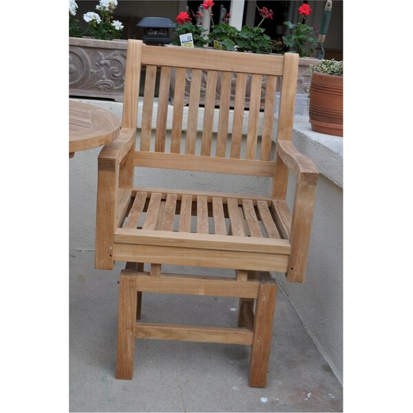 Bove Teak Patio Dining Chair With Cushion By Freeport Park