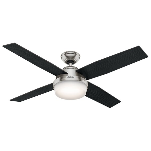 52 Dempsey 4-Blade Ceiling Fan with Remote and Light by Hunter Fan