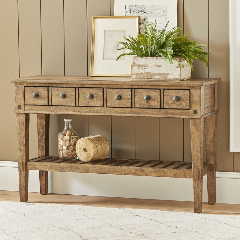 console table. Derrickson Console Table With Drawers