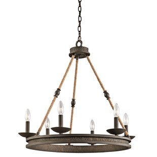 Compare Blair 6-Light Wagon Wheel Chandelier By Gracie Oaks