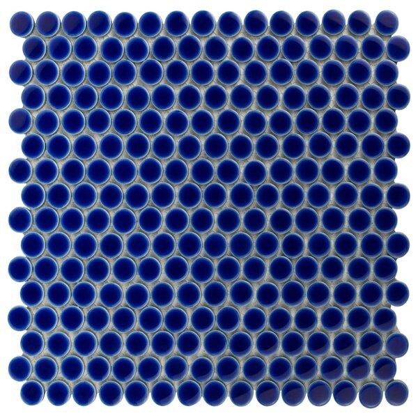 Penny 0.8 x 0.8 Porcelain Mosaic Tile in Cobalt by EliteTile